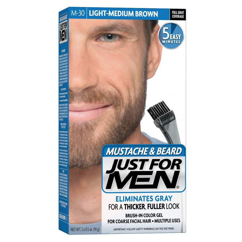 Just For Men Szakáll Festék Light Medium Brown Közepes Világos Barna M30
